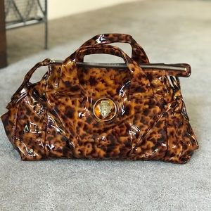 Gucci Hysteria Tortoise Patent Leather Satchel